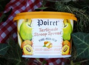 Tartinage stroop spread Poiret Pomme-Poire-Abricot 300g