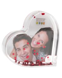 Acheter Photo heart in plexi with red glitter hearts S66FE1