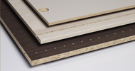 Acheter Wood based board with a decorative melamine layer