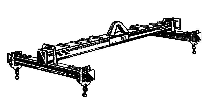 Acheter Lifting beam with 4 adjustable hooks