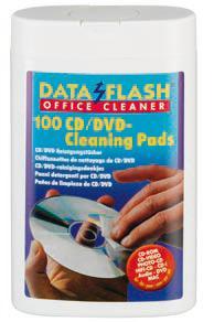 Acheter Lingettes nettoyantes humides pour CD et DVD en boîtes ovales pratiques DATA FLASH DF 1521