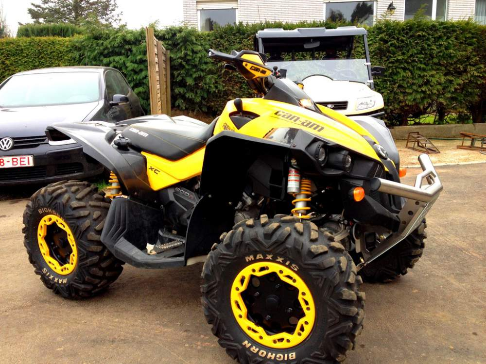 Quads utilisé Can Am Renegade 800.