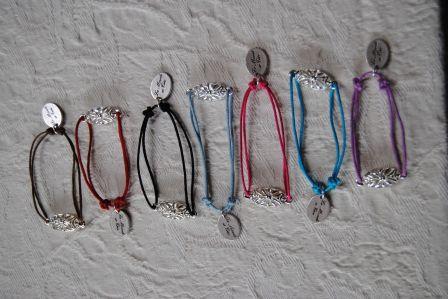 Acheter Bracelets réglables en coton B 296