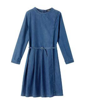 Acheter Robe plissée denim fluide