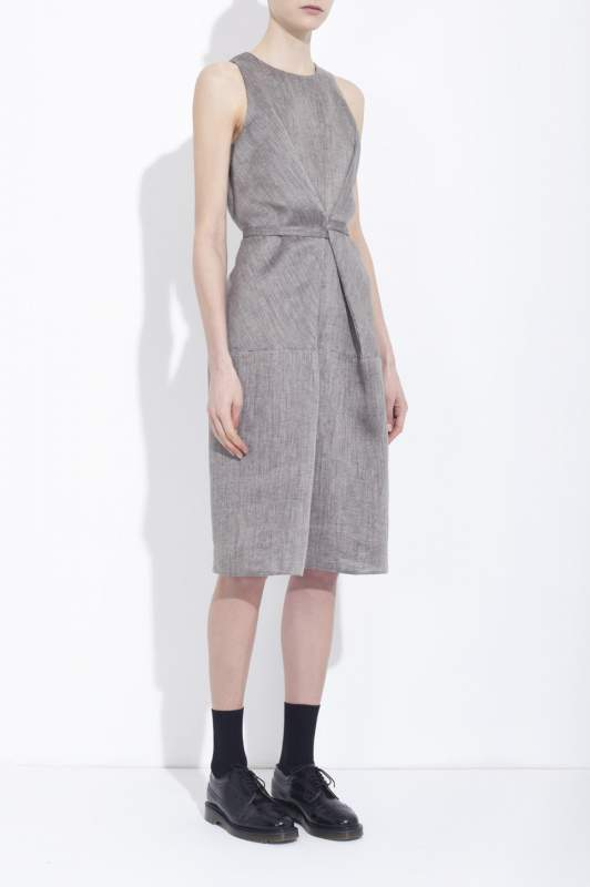 Acheter Wrap dress Sleeveless linen
