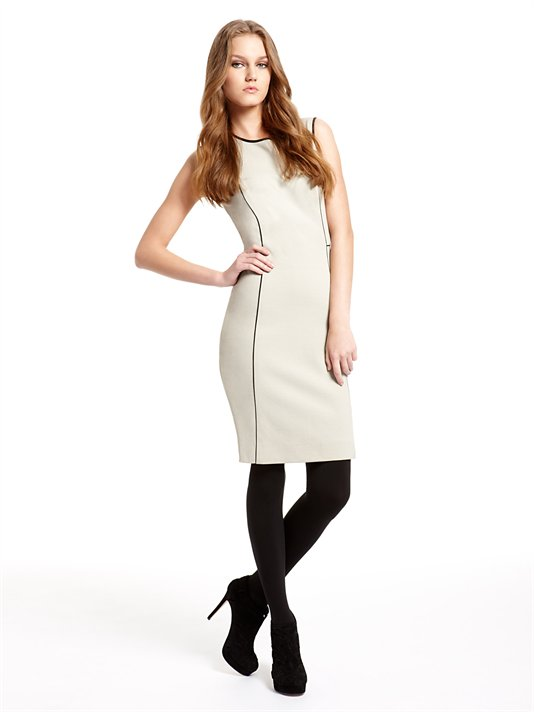Acheter Sleeveless Dress DKNY With Contrast Piping Details