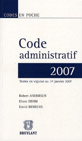 Acheter Code administratif