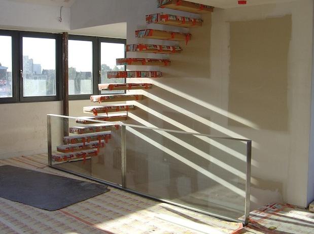 Acheter Balustrade in steel and glass