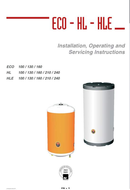 Acheter Hot water Tanks and Boilers > ECO 100