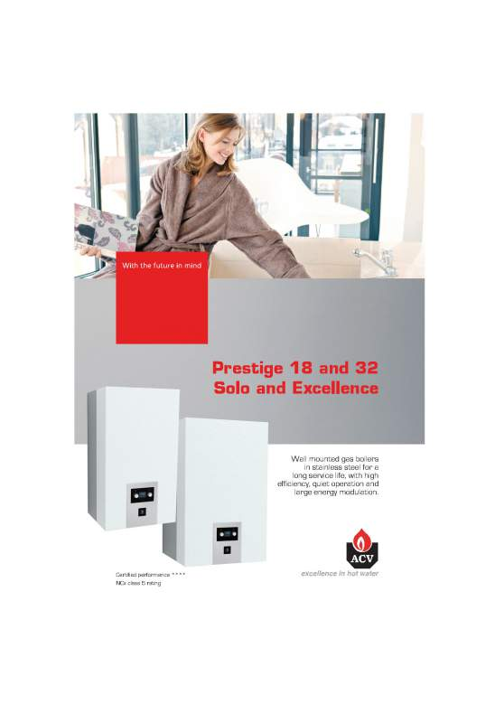 Acheter Hot water Tanks and Boilers > Prestige 18 Excellence MkIII