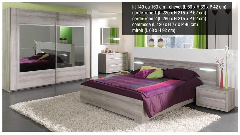 Acheter Meubles pour chambre à coucher adulte Evi - ref.: Bau