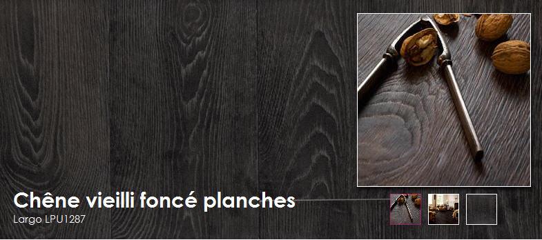 Acheter Planches extra larges et longues avec chanfreins - Chêne vieilli foncé planches - Largo LPU1287