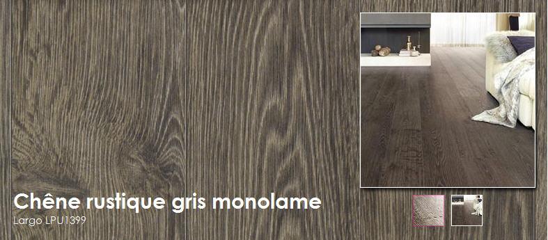 Acheter Planches extra larges et longues avec chanfreins - Chêne rustique gris monolame - Largo LPU1399