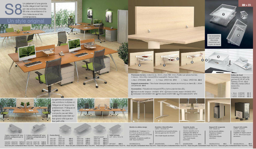 Acheter Bureaux gamme S8