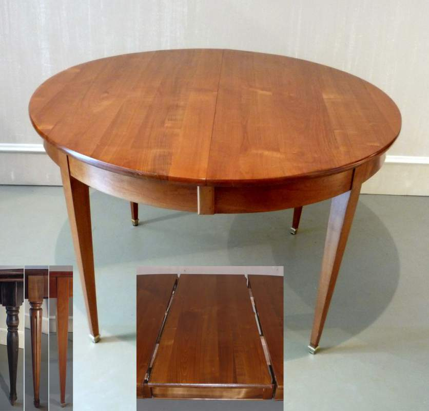 Genial Tables De Salle à Manger   0TA12 Hb Table Ronde 120 Directoire Merisier