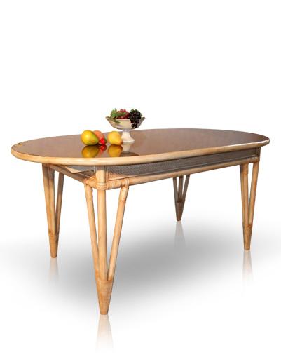 Acheter Table de salle à manger en rotin - Classiqua