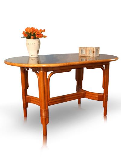 Acheter Table de salle à manger en rotin - Irene