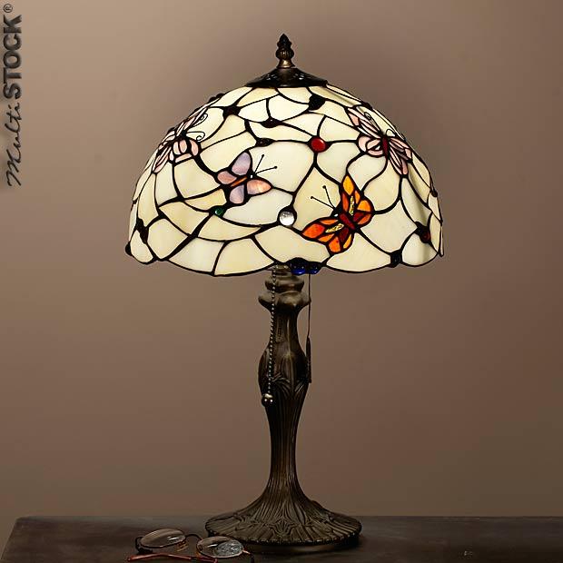 Acheter Belle Lampe tiffany papillons colorés Small
