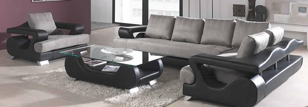 meubels de salon en cuir et tissu - Salon En Bois Et Tissu En Tunisie