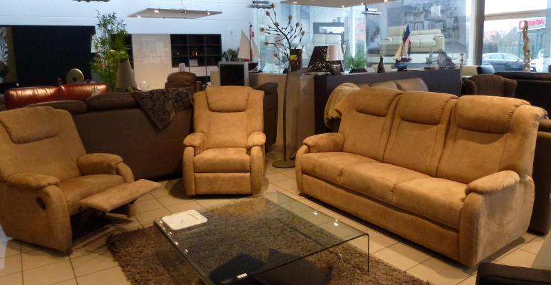 Acheter Salon 3+1R + 1R (grand confort - microfibre)