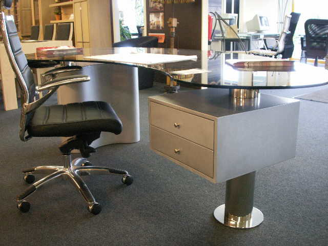 Acheter Magnifique bureau métal + verre
