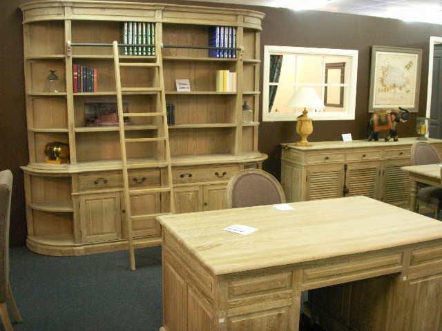 Acheter Bureau et bibliothèque en chêne massif