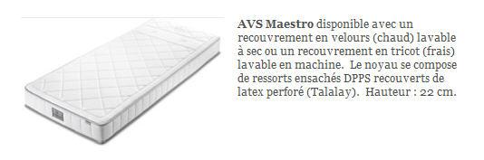 Acheter Matelas Auping - AVS Maestro