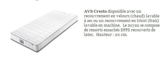 Acheter Matelas Auping - AVS Cresto