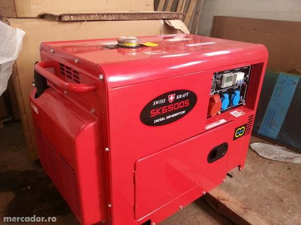 Acheter Three phase portable silent type Swiss Kraft diesel generator SK6500S
