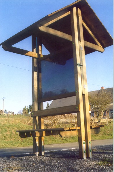 Acheter Panneaux d'information avec toit et bancs