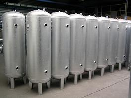 Anti-water hammer tanks