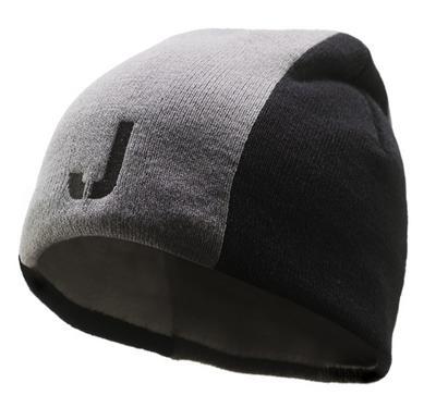 Acheter Bonnet d'hiver gris-noir 'J'