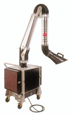 Acheter Unité filtrante mobile avec filtres mécaniques pour atelier de production.