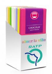 Box de 8 tablettes de chocolat