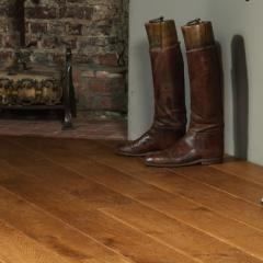 Loft leather flooring