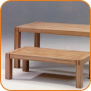 Hard wood tables