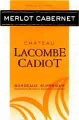 Vin Chateau Lacombe Cadiot AC Bordeaux suparieur