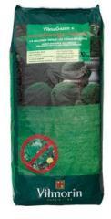 Engrais organique pour gazon avec herbicide