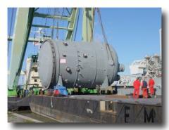 Titanium clad reactors