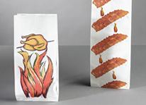 Sacs en papier pour produits chauds