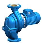 In-line circulating pump of monobloc design