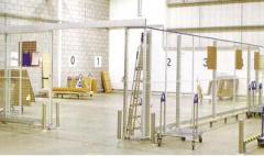 Système de cloisons industrielles et de stockage