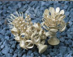 Coulée en argent et bronze
