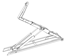 Container hook arm system