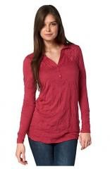 Lovely crinkle polo tunic