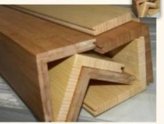 Molded products of spliced pine