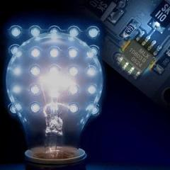 Lamps on the base of light-emitting diode