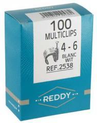 Attache MULTICLIPS 4-6mm BLANC