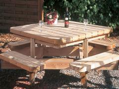 Table et bancs pour jardin ME13