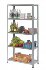 Stainless steel shelving. Deco